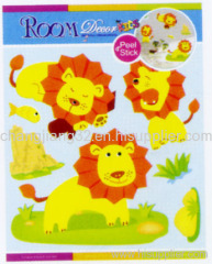 Cute Lion Chipboard 3D Sticker