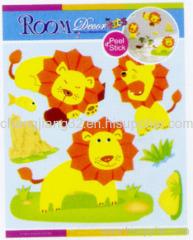 Cute Lion Chipboard 3D Sticker