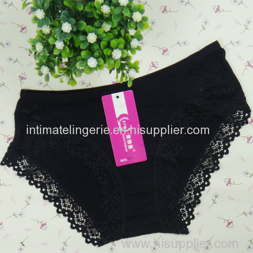 Lace trim bamboo boyshort Young lady short brief girl underpant hipster lingerie lady underwear sexy intimate underwear