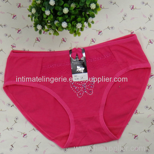 laced cotton lady's brief cotton bikini panties stretch lady short pants sexy knickers underwear lingerie intimate