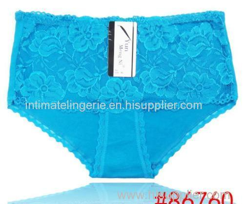 Pretty laced lady's hipster cotton bikini panties stretch lady brief sexy knickers underwear lingerie intimate underpant