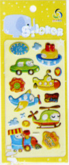 Mini-Traffic Foil Puffy Stickers