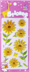 Sunflower Foil Puffy sticker