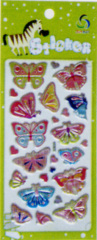 Cute butterfly Foil Puffy Stickers