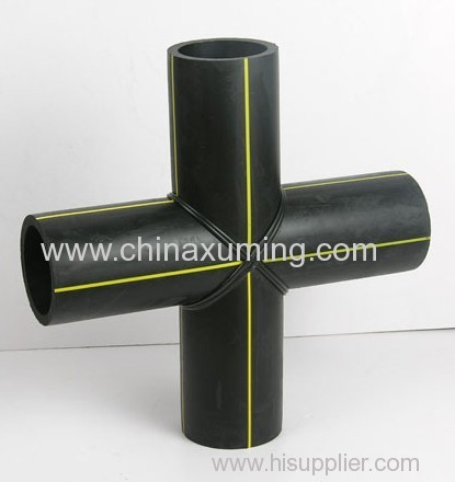 HDPE Butt Fusion Welding Cross Pipe Fitting