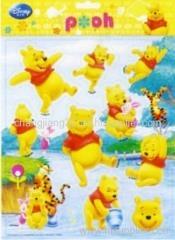 Winnie Foil puffy sticker
