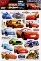Cartoon comic CARS Foil Puffy Sticker