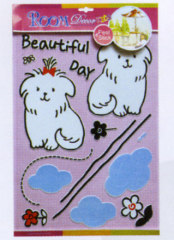 puppy Glitter Puffy Sticker