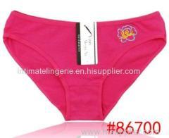 Plain embroidery lady's boyshort hipster cotton bikini panties stretch lady brief sexy underwear lingerie intimate under