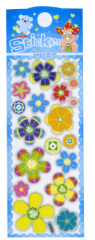 Pearlized cute flowers Puffy Sticker