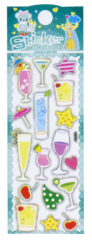 Pearlized glass Puffy Stickers