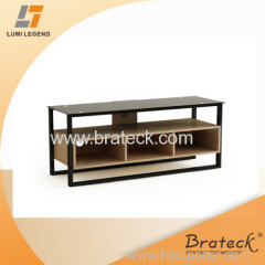 Modern Wood and Glass TV Stand