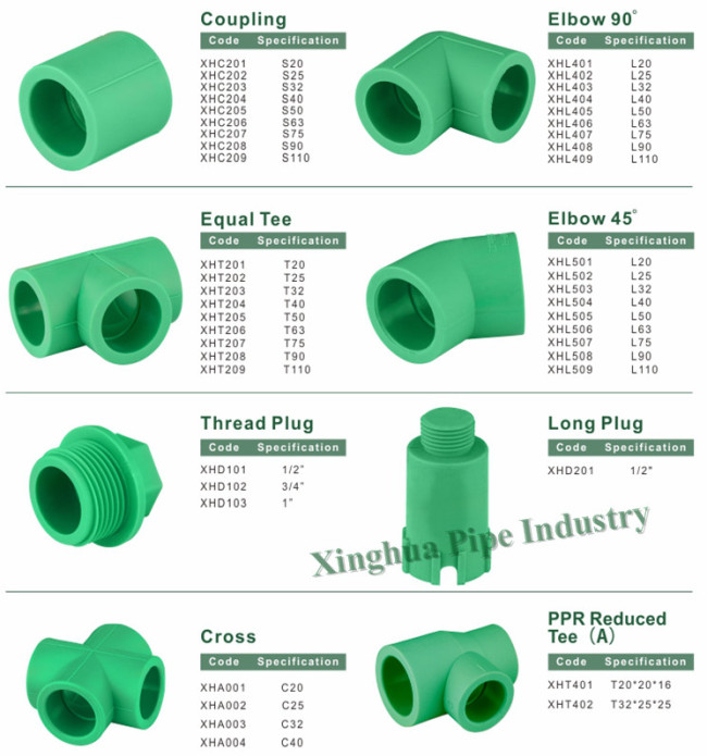 Popular ppr adapter union mm from china manufacturer