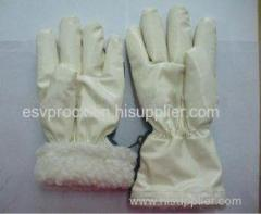 Customized Cut Resistance Latex Coated Warm Winter Gloves With Nitrile Impregnation Palm