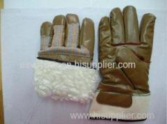 XL Abrasion Resistance Heavy Duty Nitrile Coated Warm Winter Gloves