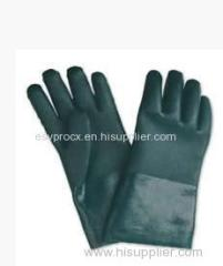 XL Chemicals Resistance PVC Coated Gloves with Seamless Boa Liner
