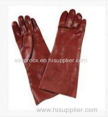 L Mens Abrasion Resistance Interlock Cotton Liner PVC Coated Gloves