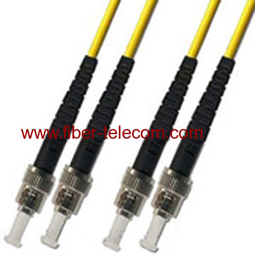 ST-ST Single Mode Duplex Fiber Optic Patch Cord