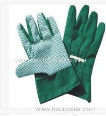 Customized Industrial Safety Knitted Cotton Gloves With PVC Dots For Refuse Collection