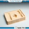 Plastic cosmetic cavity flocking tray