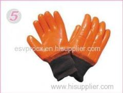 XL Tear Resistance Double Dipped Industrial Protective Gloves With PVC Fully Coated