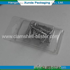Disposable plastic hook packaging box