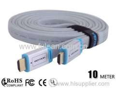 10m High Quality flat hdmi cable 1.4 for wholeseller