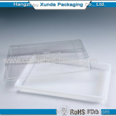 Clear square plastic pizza pack box