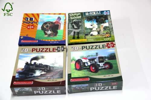 puppy train 3D jigsaw puzzle
