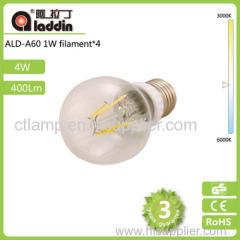 4w 400lm 4 led bulb 360 degree