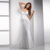 GEORGE BRIDR ruched chiffon wedding dress sweetheart neckline and corset closure with beaded lace embellishments