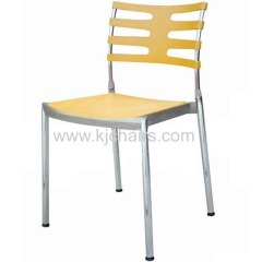 simple plastic dining chair