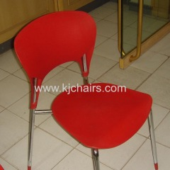 red pp seat & back restaurant chair