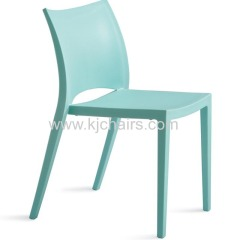 blue pp plastic dining chair