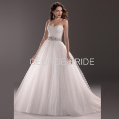 GEORGE BRIDE crystal beaded waist layers of tulle traditional ball gown