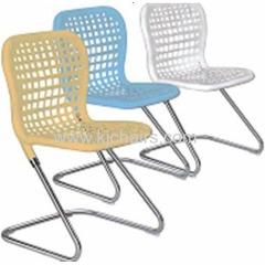 chrome frame plastic leisure chair