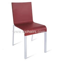 high quality pu seat with aluminum leg chair