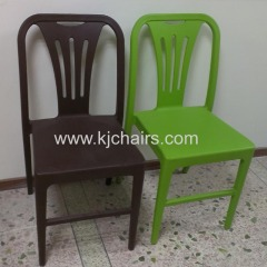 without armrest pp plastic dining chair