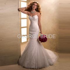 GEORGE BRIDE sweetheart lace and tulle mermaid wedding gown