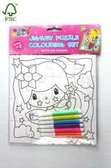 jigsaw puzzle colouring set