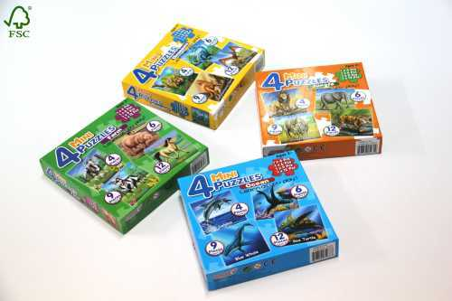 dinosaur animals mini puzzles