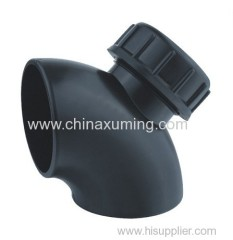 PE Siphon Drainage 91.5 Degree Bends with Mouth Pipe Fittings