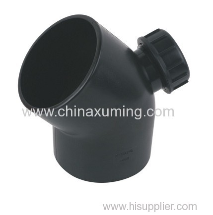 PE Siphon Drainage 45 Degree Elbow With Mouth Pipe Fittings