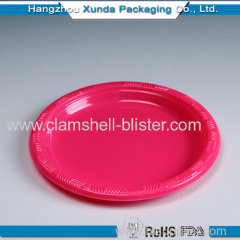 Round disposable colorful plastic party plate