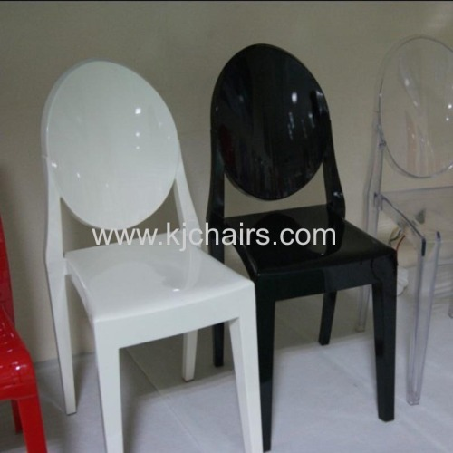 Philippe Starck Victoria ghost chair without armrest
