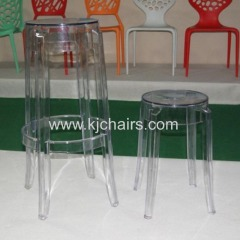 transparent PC round barstool without adjustable