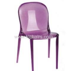 purple PC restaurant dining chair
