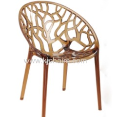 crystal PC hotel dining chair