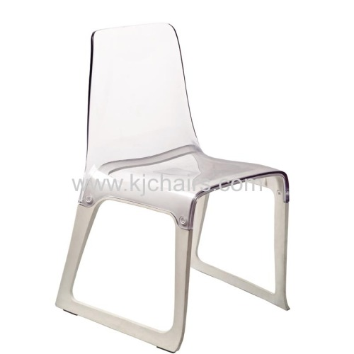 modern style pc plastic seat with metal frame chair