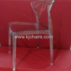 clear pc transparent dining chair